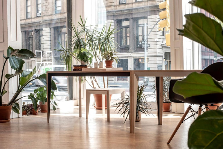 Oak White MiMi Table by Miduny, Made in Italy For Sale 2