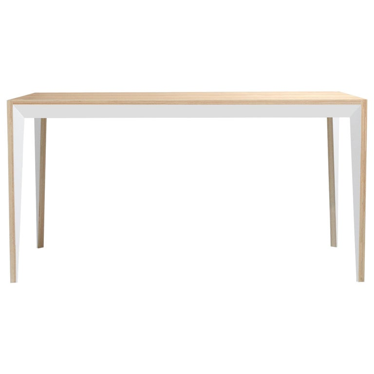 Oak White MiMi Table by Miduny, Made in Italy For Sale