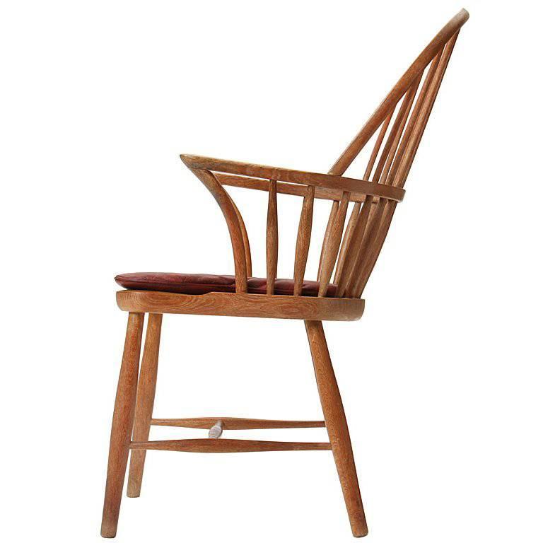 1930s Danish Oak Windsor Chair by Frits Henningsen