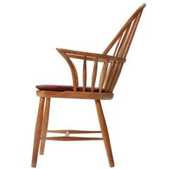 1930s Danish Oak Windsor Chair by Frits Henningsen