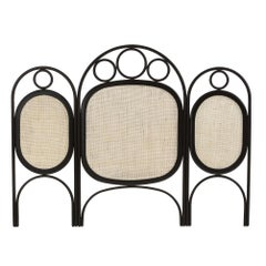Oak Wooden and Wicker Cane Queen or King Size Headboard