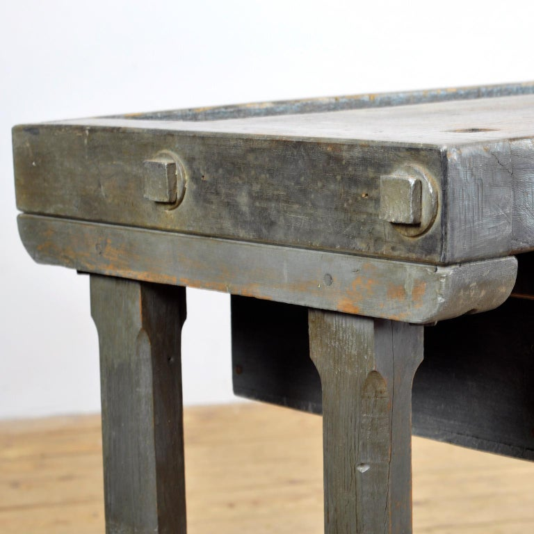 Oak Workbench, circa 1920 For Sale 8