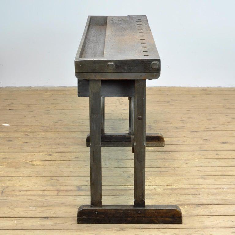 German Oak Workbench, circa 1920 For Sale