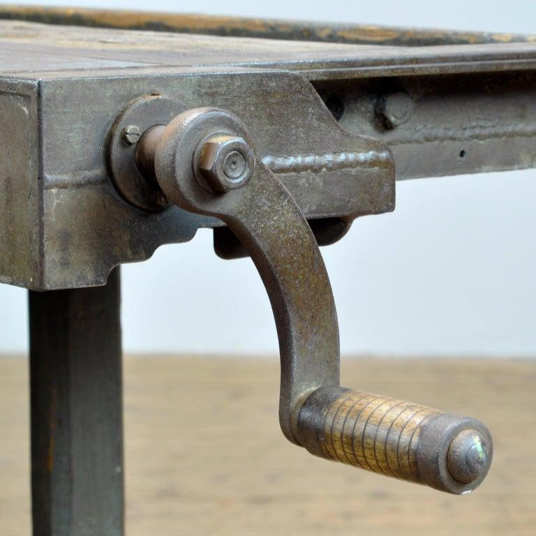 Iron Oak Workbench, circa 1920 For Sale