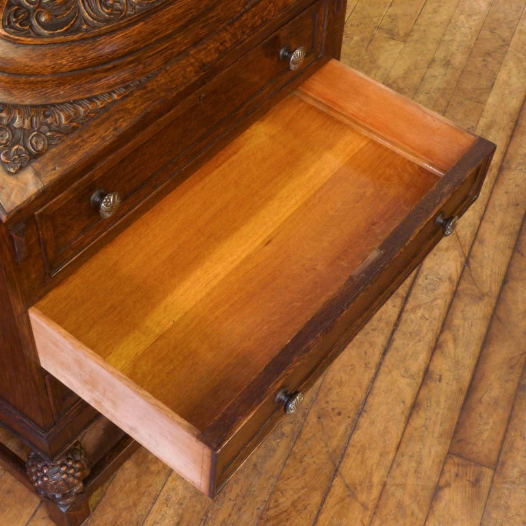 Oak Writing Bureau For Sale 5