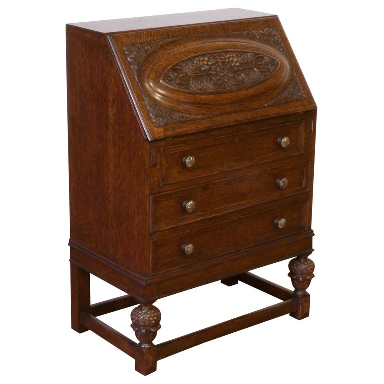 Oak Writing Bureau For Sale