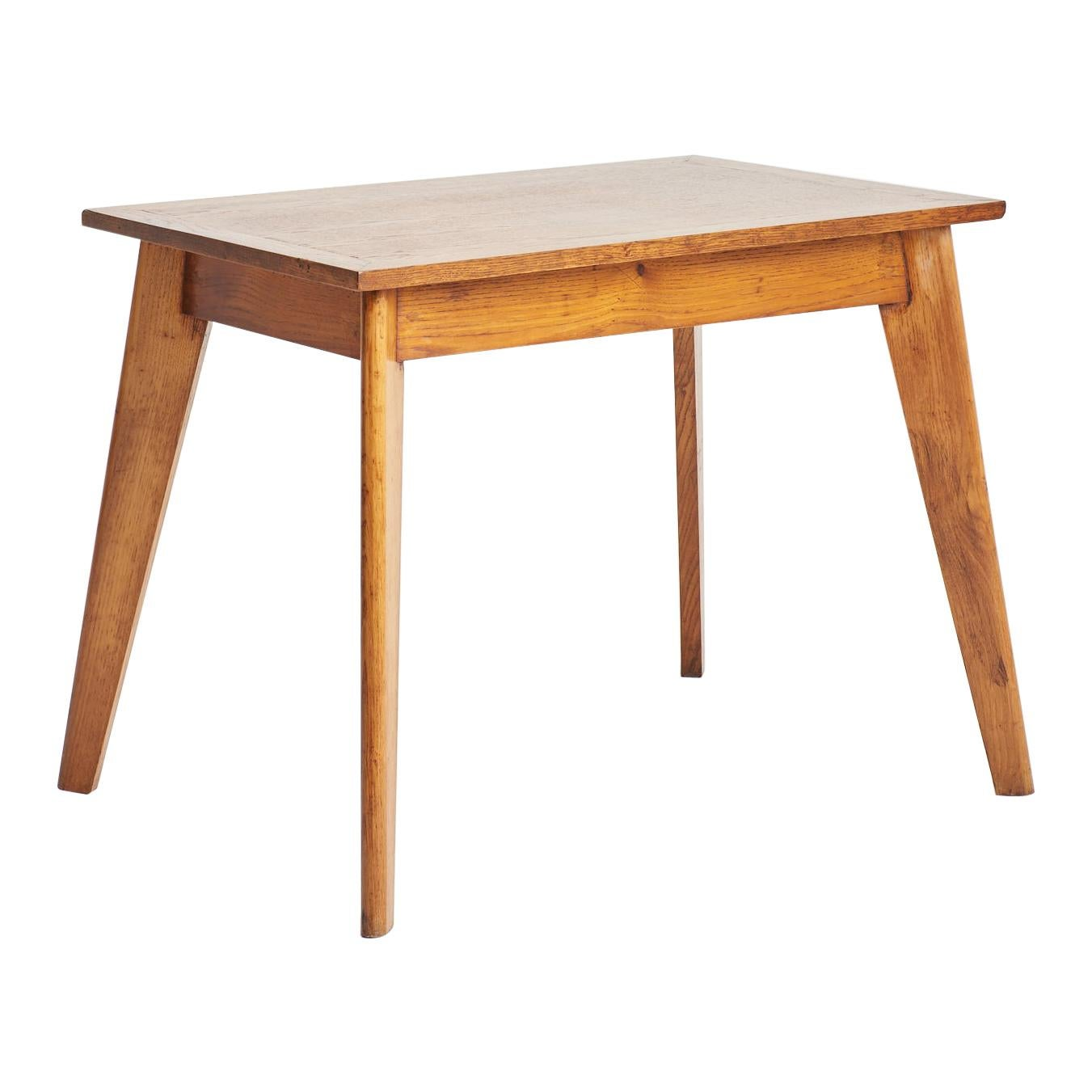 Oak Writting Table in the Manner of Jean Prouvé