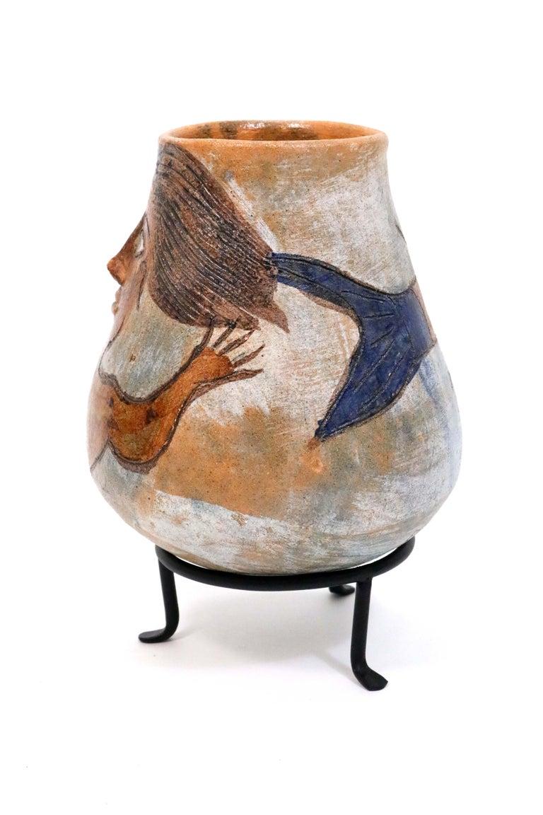 Folk Art Oaxacan Mermaid Pot by Dolores Porras For Sale