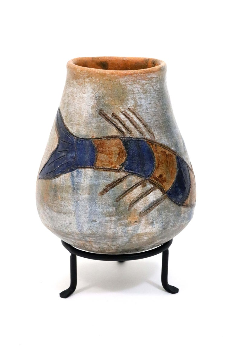 Mexican Oaxacan Mermaid Pot by Dolores Porras For Sale