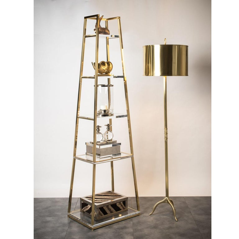 Hand-Crafted Obelisco Etagere For Sale
