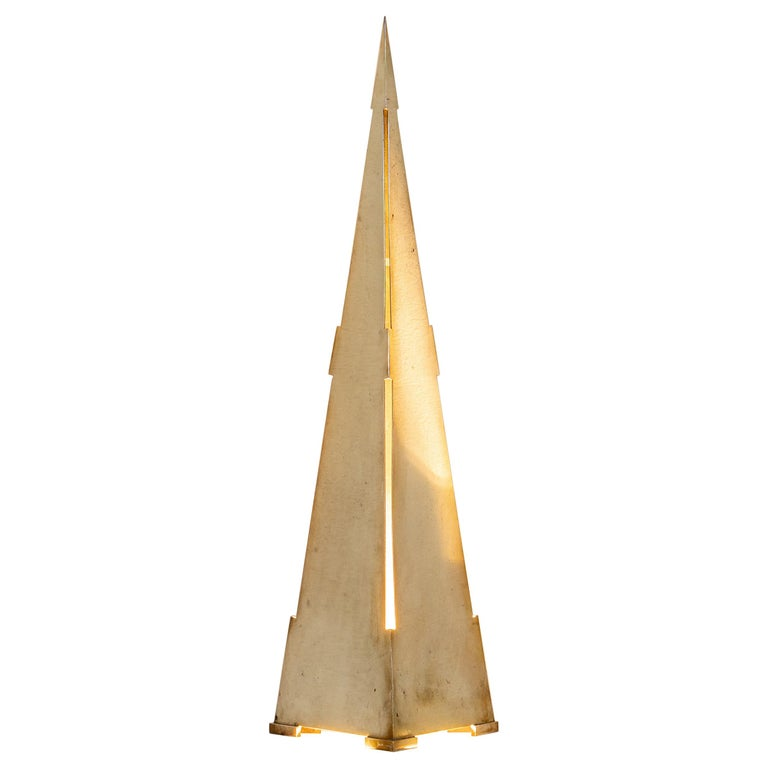 """""""Obelisco"""" Table Lamp by Gabriella Crespi, Signed For Sale"""