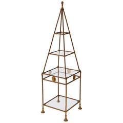 Obelisk Form with Glass Shelves
