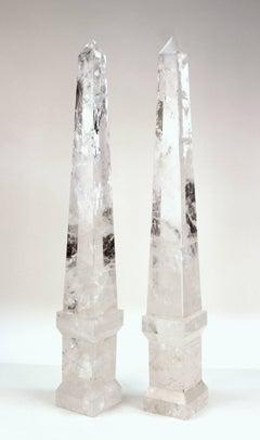 Obelisks in Clear Hand Polished Rock Crystal
