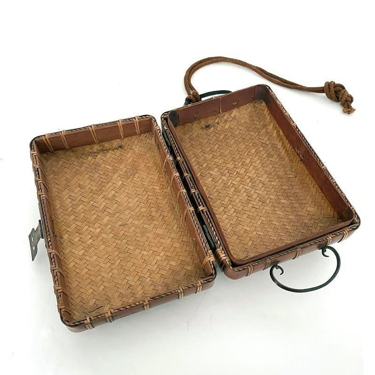20th Century Obento-Bako 'Lunch Box', Bamboo, Japanese, Meiji Period For Sale