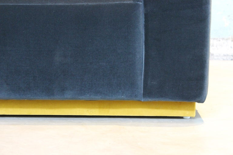 Mexican Oberon Velvet Sofa Sectional by ATRA For Sale