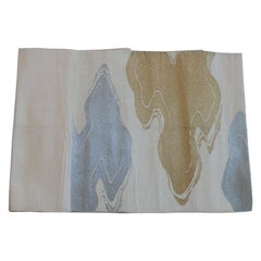 Obi Vintage Textile with Tan and Gold Clouds