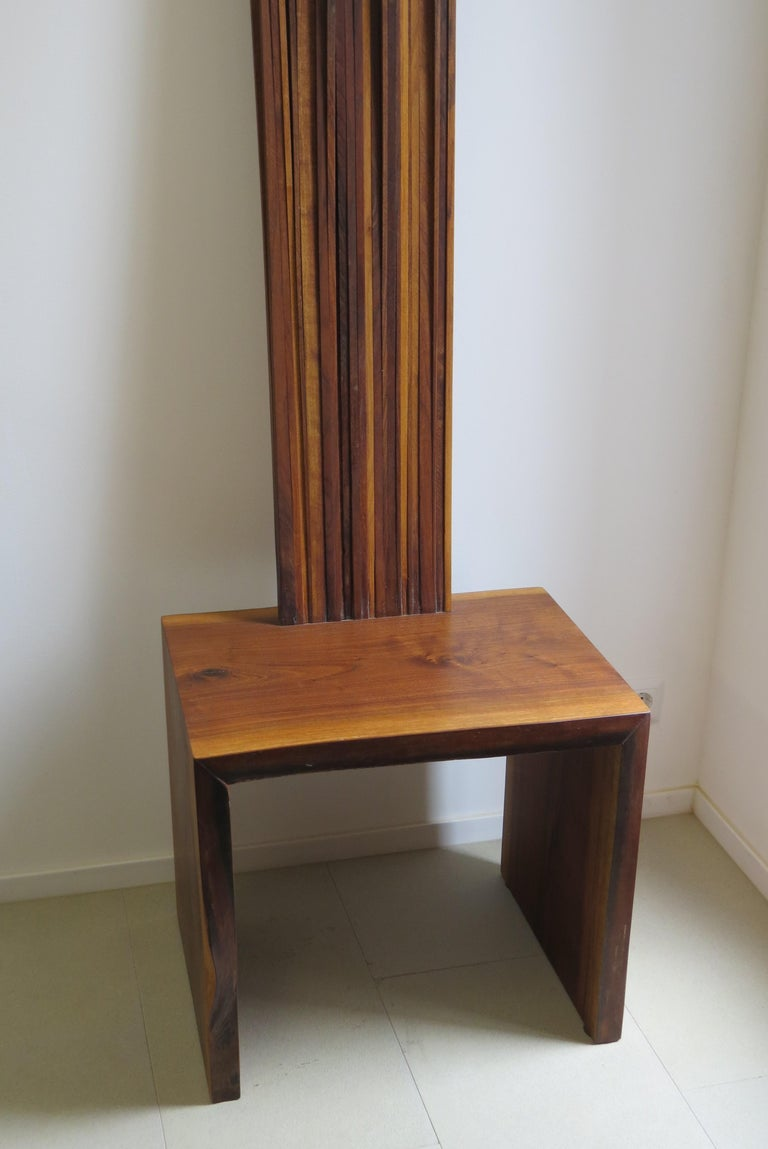 German Object Chair, Side Table, Walnut, Natural For Sale