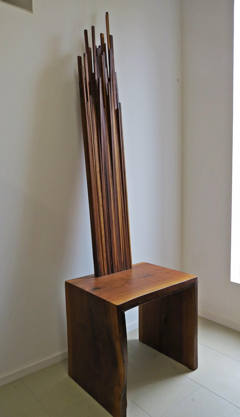 Object Chair, Side Table, Walnut, Natural For Sale 1