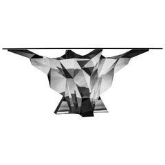 Object #MT-F3-S Mirror Polished Stainless Steel Table by Zhoujie Zhang
