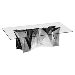 Object #MT-S1-S Mirror Polished Stainless Steel Table by Zhoujie Zhang