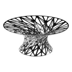 Object #MT-T1-F-L Mirror Polished Stainless Steel Table by Zhoujie Zhang
