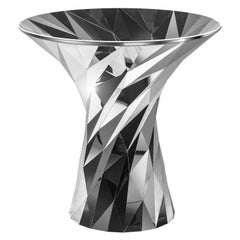 Object #MT-T1-S-S Mirror Polished Stainless Steel Table by Zhoujie Zhang
