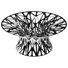 Object #MT-T2-F-L Mirror Polished Stainless Steel Table by Zhoujie Zhang