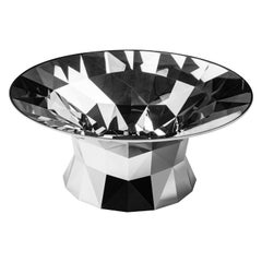 Object #MT-T2-S-L Mirror Polished Stainless Steel Table by Zhoujie Zhang