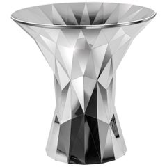 Object #MT-T2-S-S Mirror Polished Stainless Steel Table by Zhoujie Zhang