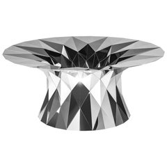 Object #MT-T3-S-L Mirror Polished Stainless Steel Table by Zhoujie Zhang