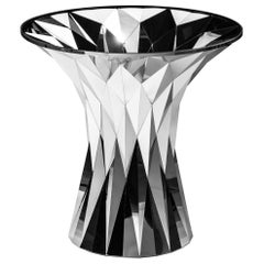 Object #MT-T3-S-S Mirror Polished Stainless Steel Table by Zhoujie Zhang