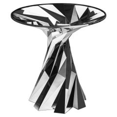 Object #MT-T5-S-S Mirror Polished Stainless Steel Side Table by Zhoujie Zhang