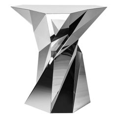 Object #MT-T8-S-S Mirror Polished Stainless Steel Table by Zhoujie Zhang