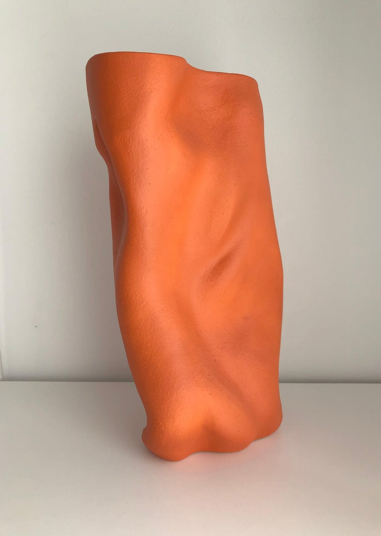 Hand-Crafted Ceramic Abstract Sculpture Vase