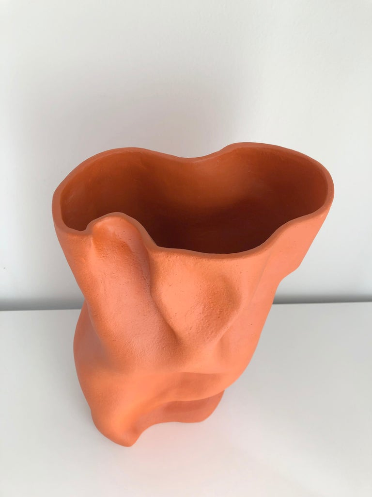 Contemporary Ceramic Abstract Sculpture Vase