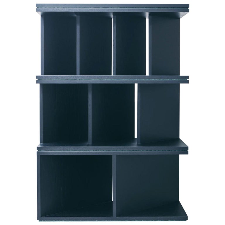 Black Ash Wood Room Divider and Bookcase, Oblique 01.1 by barh For Sale