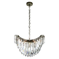 Oblong Contemporary Chandelier with Tapered Crystals