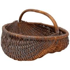 Oblong Wooden Basket