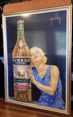 "Obrad Nicolitch ""Persan Export"" Vintage French Deco Advertising Poster c.1928"