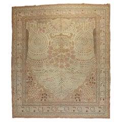 Observational Antique Persian Tabriz Room Size Rug