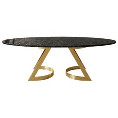 Obsidian Gemstone Noir Désir Dining Table Sculpted ELEMENT&CO