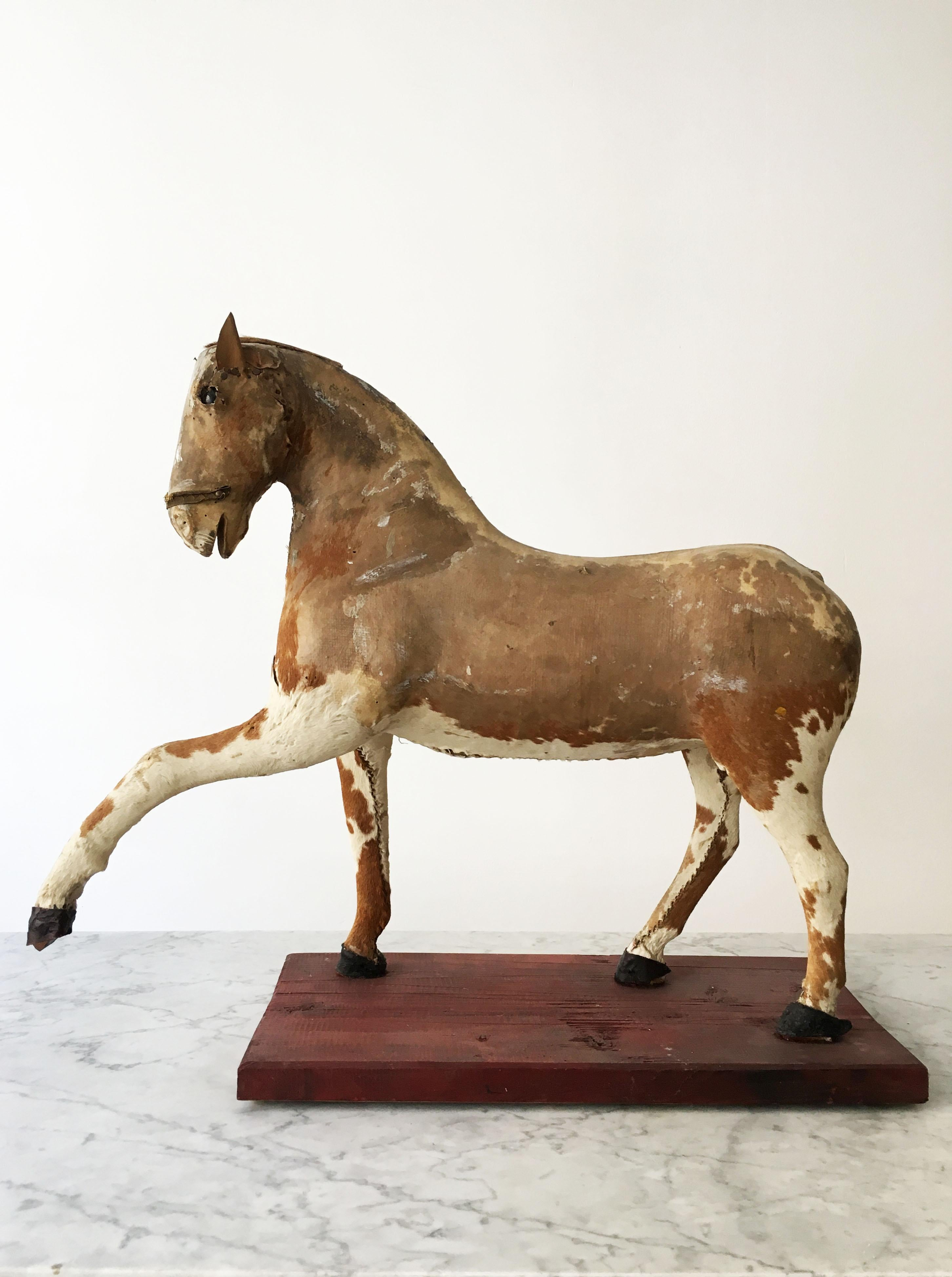 Primitive Modern Horse Sculpture Historical Toy Austria 1920s For Sale At 1stdibs