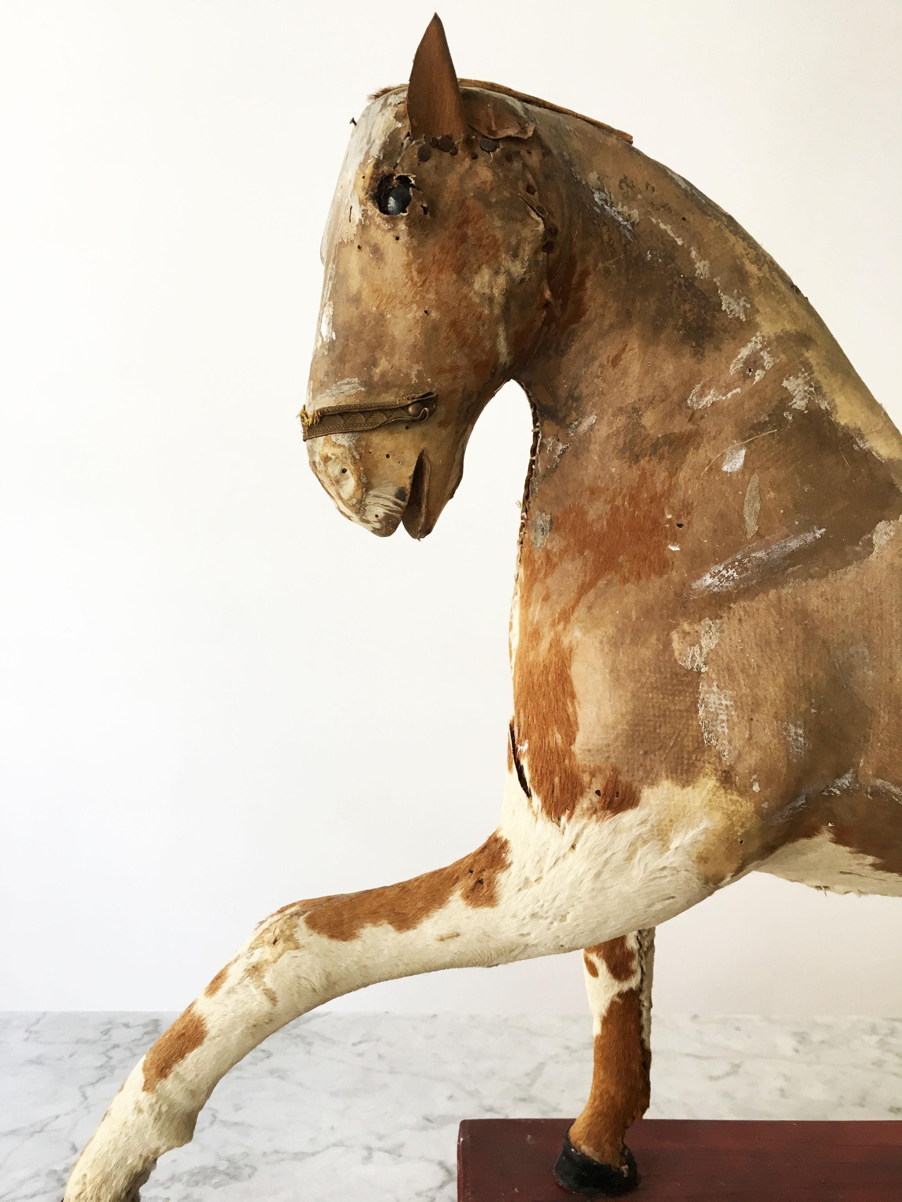 Primitive Modern Horse Sculpture Historical Toy Austria 1920s At 1stdibs
