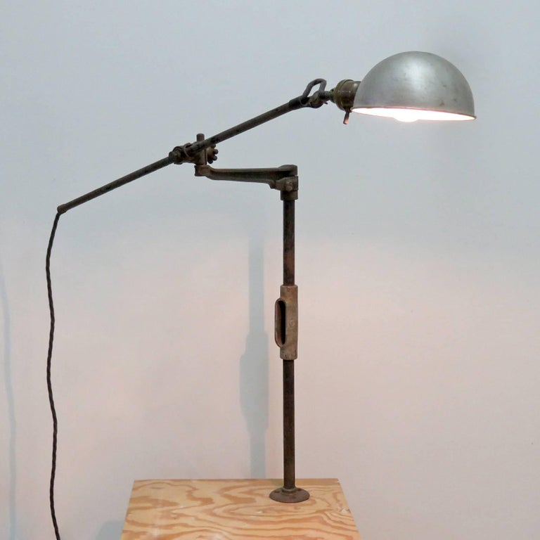 O.C. White Industrial Task Lamp For Sale 4