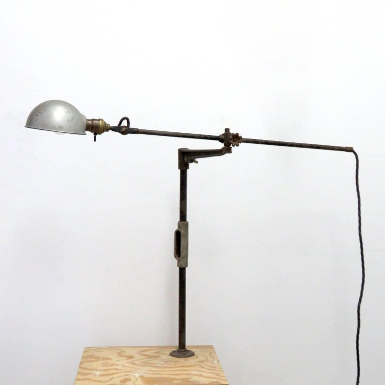 O.C. White Industrial Task Lamp In Good Condition For Sale In Los Angeles, CA