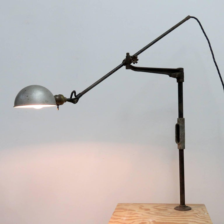 O.C. White Industrial Task Lamp For Sale 3