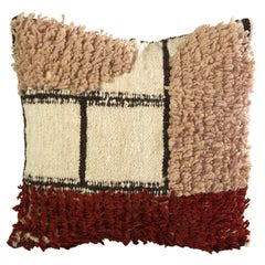 Ocaso Handmade Wool and Linen Geometric Pillow, in Stock