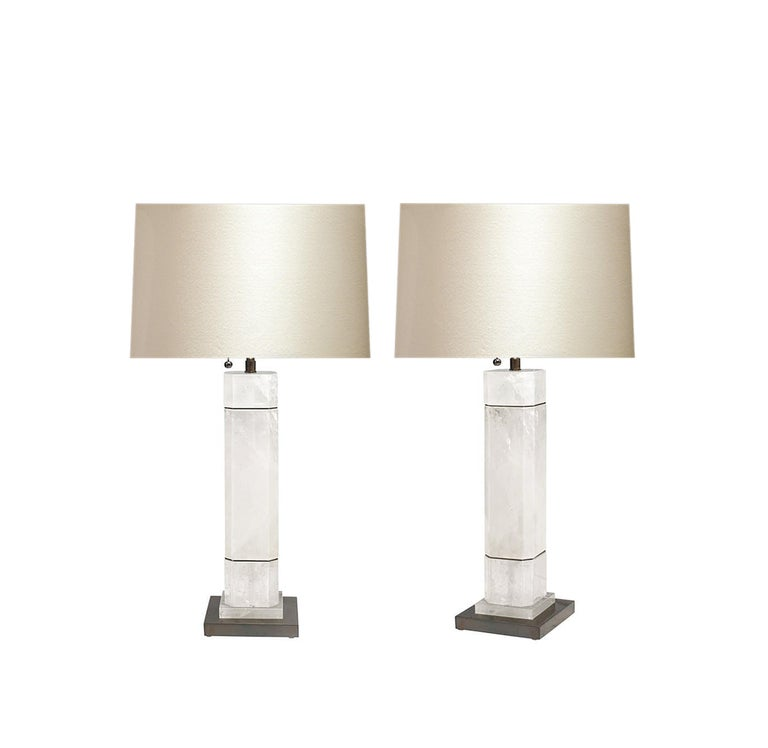 Contemporary OCC Rock Crystal Quartz Lamps by Phoenix For Sale