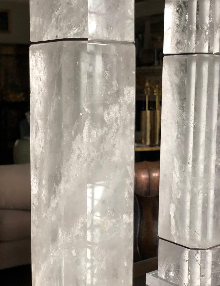 OCC Rock Crystal Quartz Lamps by Phoenix In Excellent Condition For Sale In New York, NY