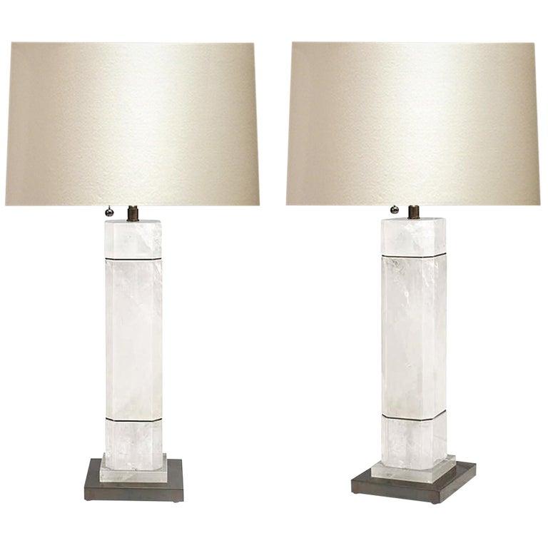 OCC Rock Crystal Quartz Lamps by Phoenix For Sale